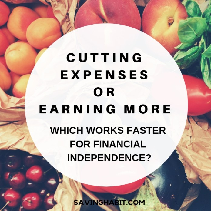 Cutting expenses or Earning more - which works for financial Independence_