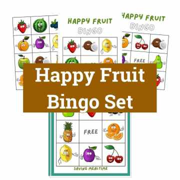 Happy Fruit Bingo Set