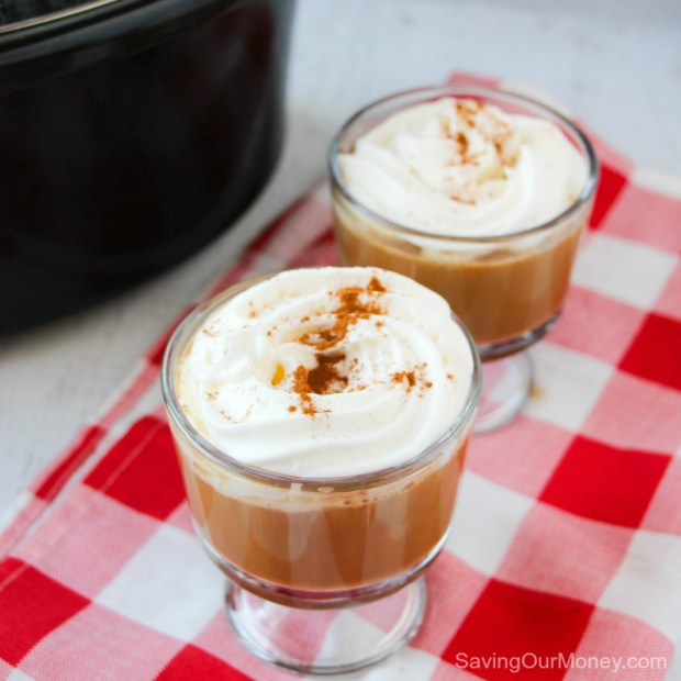 Slow Cooker Gingerbread Latte - an easy and frugal winter drink recipe