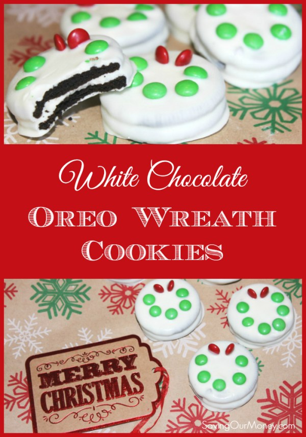 These white chocolate Oreo Christmas wreath cookies are so easy and perfect for any Christmas gathering