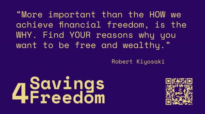 Savings4Freedom Quote Robert Kiyosaki