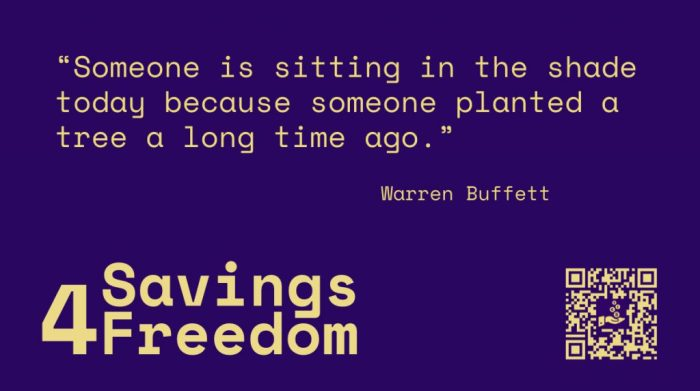 Savings4Freedom Quote Warren Buffett