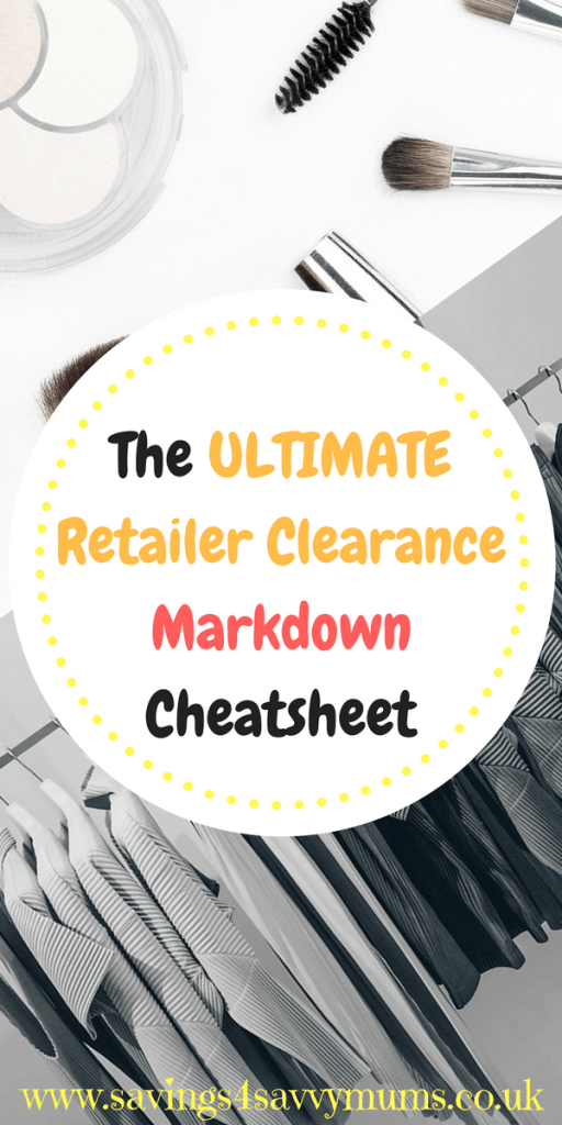 23 discount and clearance outlets. Here's how to find bargains from the best UK brands by Laura at Savings 4 Savvy Mums. #RetailerClearance #BargainShoping #CheapDeals