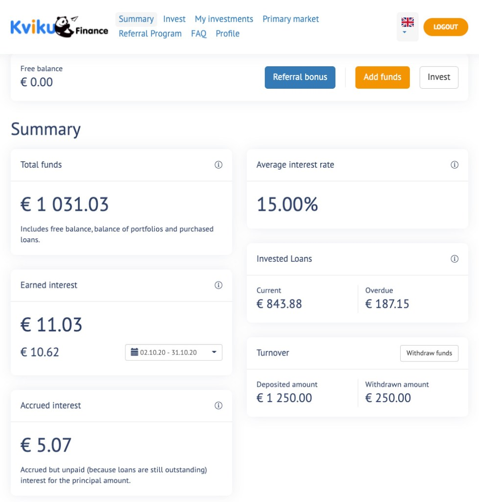 Kviku Finance Update SavingsForFreedom October 2020