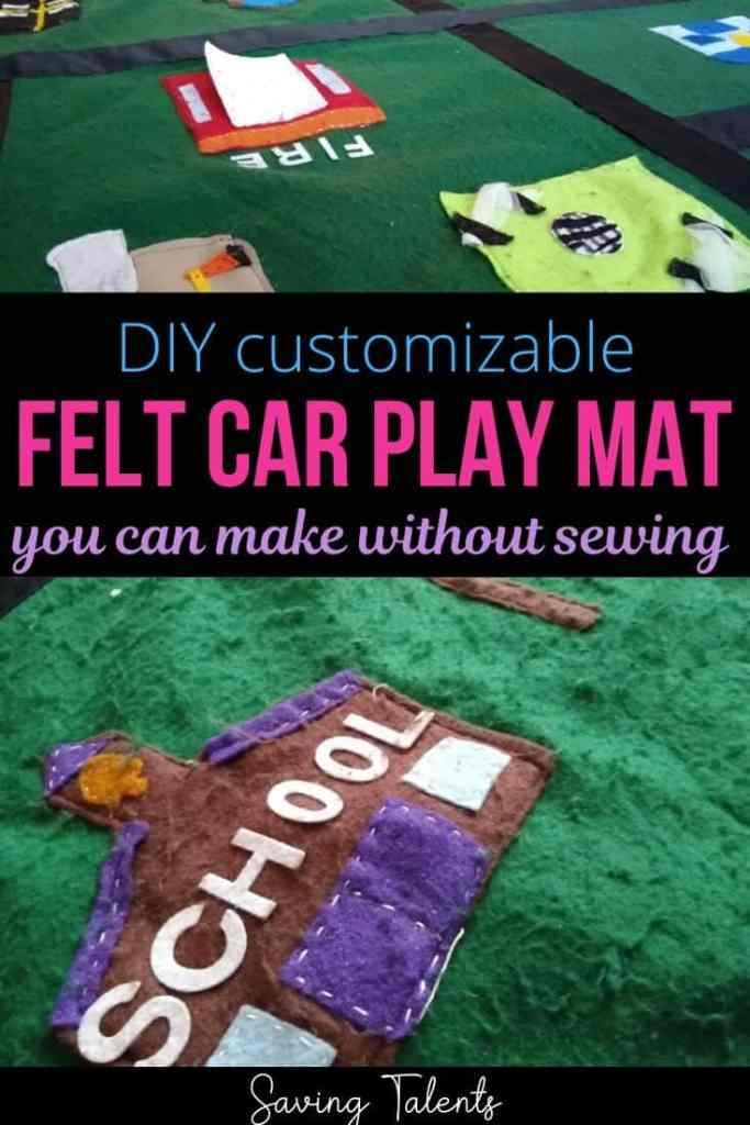 DIY No-Sew Felt Play Car Mat You Can Customize!