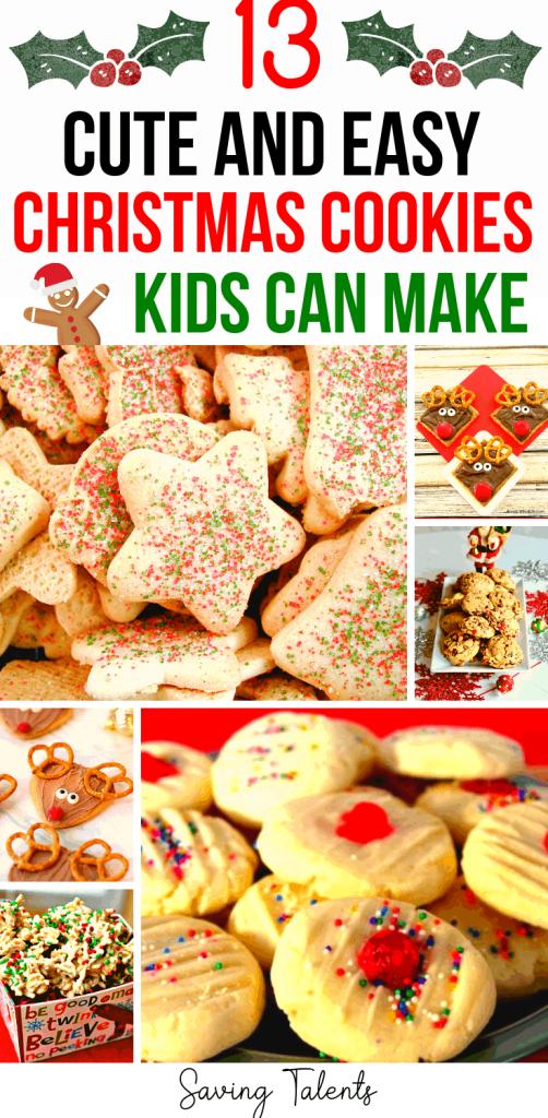 13 Cute Christmas Cookies Kids Can Make