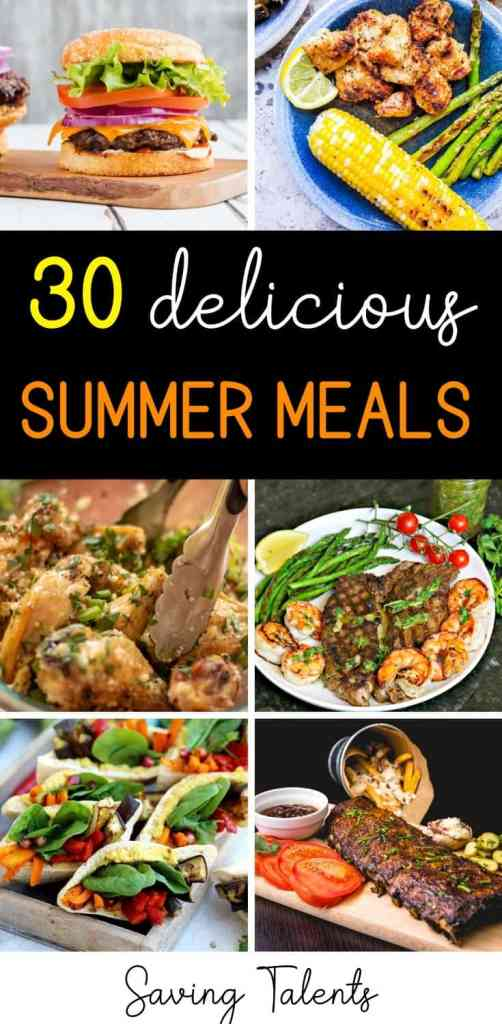 summertime meals