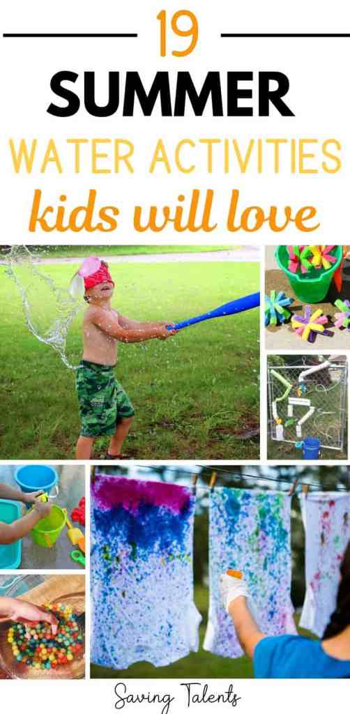 summer water activities for kids
