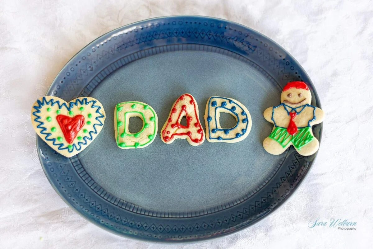 Father's Day Sour Cream Sugar Cookies with Cream Cheese Frosting