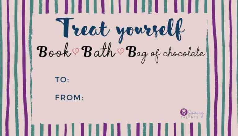 "FREE Printable Gift Tag – ""Treat Yourself"""