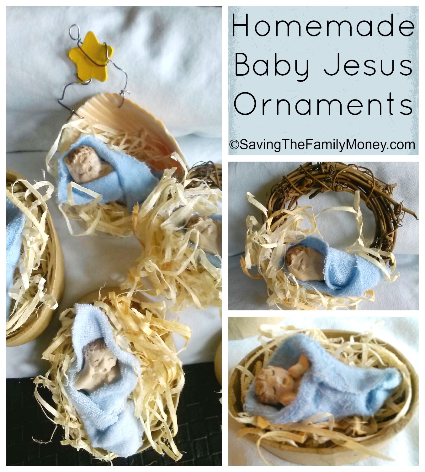 Homemade Baby Jesus Ornaments Christmas Art Crafts For