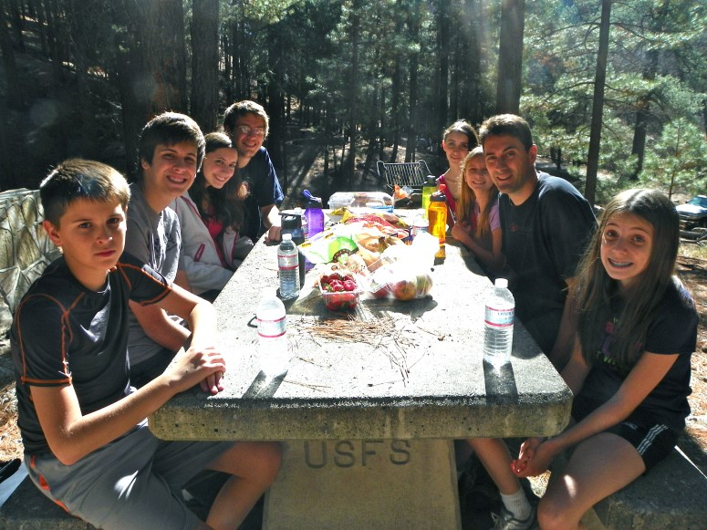 eating thanksgiving dinner on mount lemmon in tucson arizona