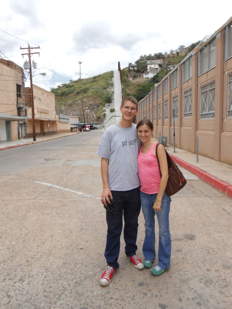 the mexican border in nogales arizona on our first week in tucson