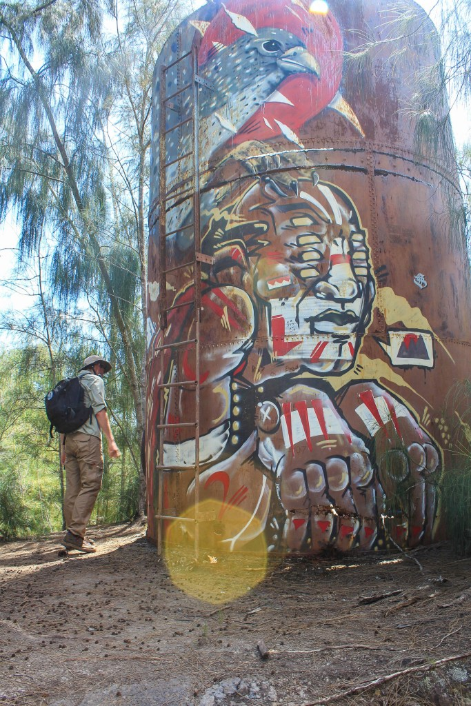 graffiti on kealia trail beautiful north shore hike on oahu hawaii