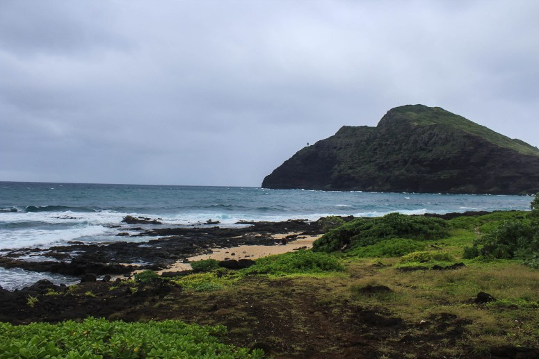 View of Makapu'u Lighthouse from Makapu'u Beach