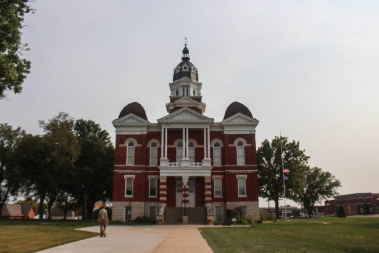Johnson County Courthouse Building in Tecumseh, Nebraska
