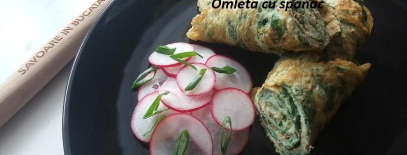 omleta cu spanac in lipie penmtru micul dejun sau gustare
