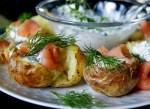 Cartofi la cuptor cu somon