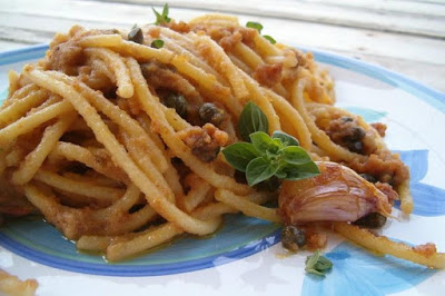 Spaghete cu anșoa