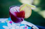 Non alcoholic Margarita with Cranberries