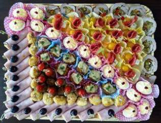 Decorative appetizer platter