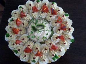 eggs stuffed with cream