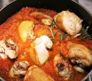 Chicken with morcoviori
