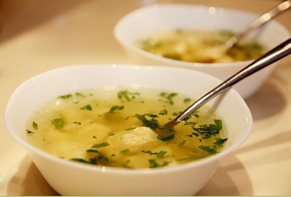 Supa de rata cu galuste de gris