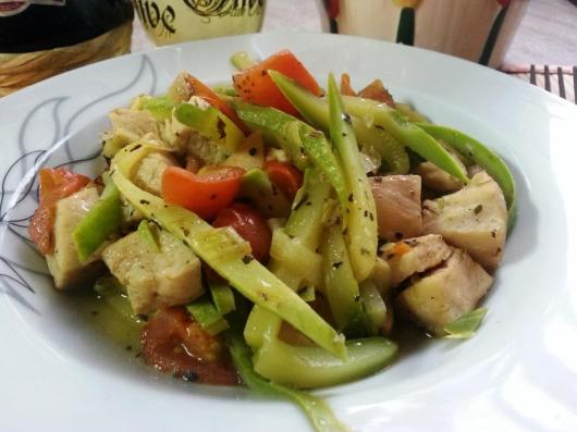 Zucchini with chicken breast