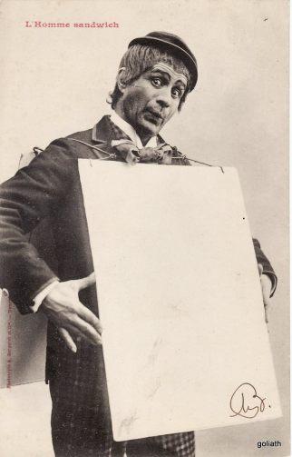 Edition Bergeret-L'homme-sandwich