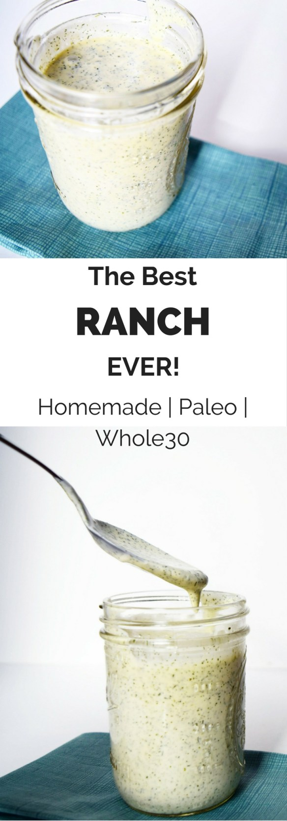 The Best Ranch Ever - This Whole30 ranch is easy and quick to make. It's creamy with a little tang and lots of dill and chives, bringing a huge flavor punch. | savorandglow.com