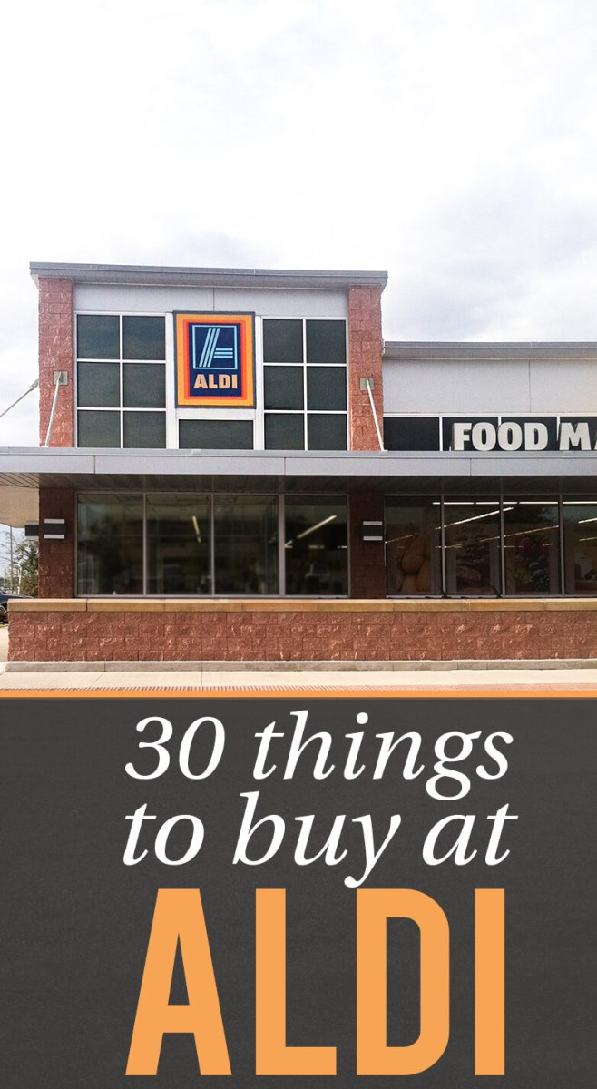 Frugal Living - 30 Things to Buy at Aldi