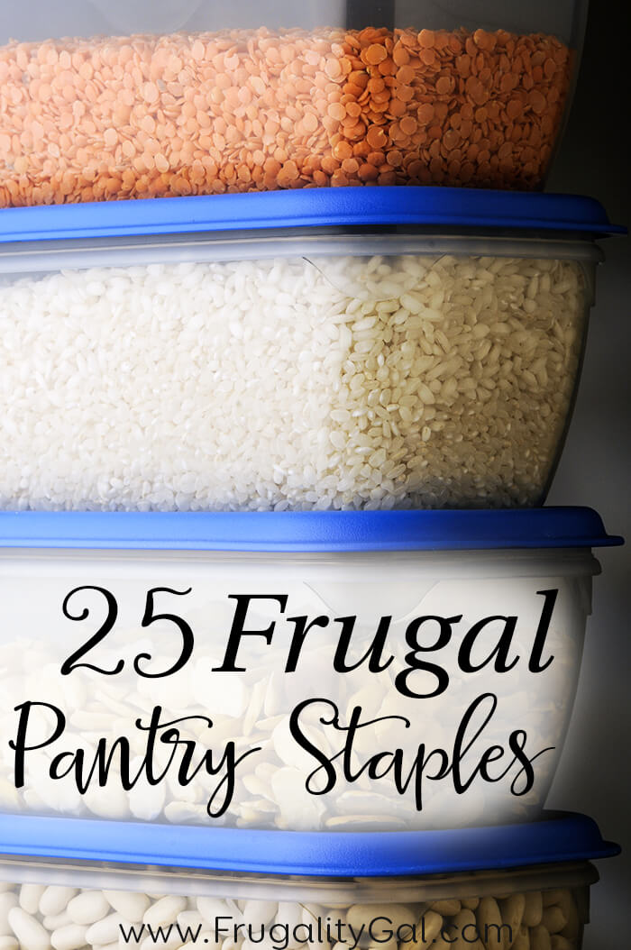 25 Frugal Pantry Staples