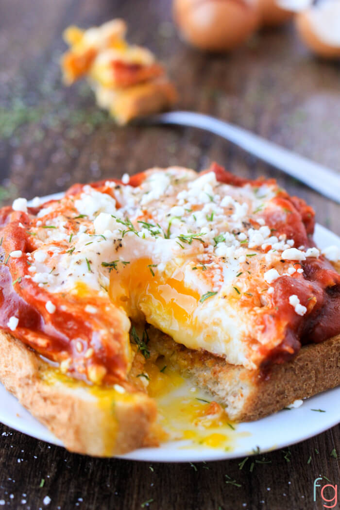 Egg Toast Pizza