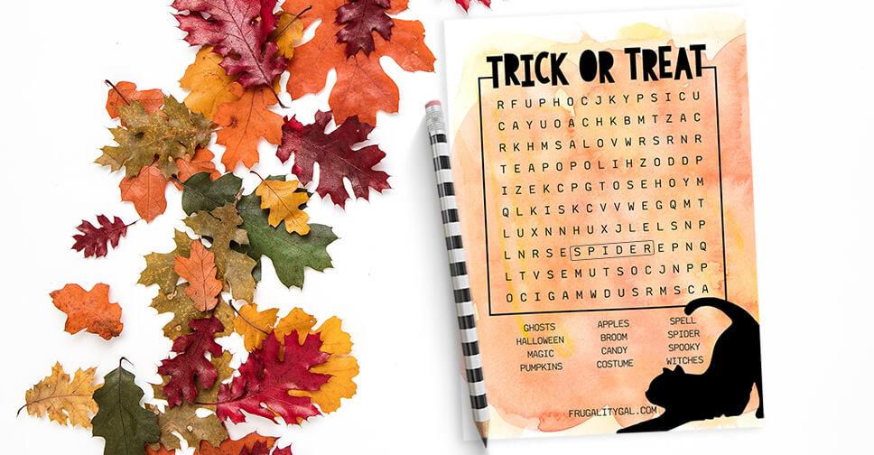 halloween word search printable savor savvy