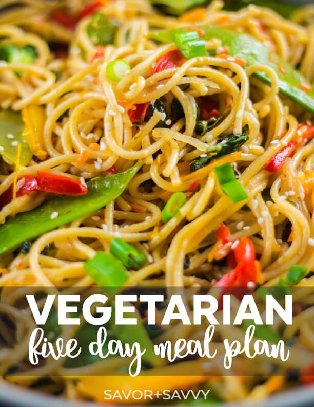 vegetarian meal plan free printable 5 day meal plan with grocery list