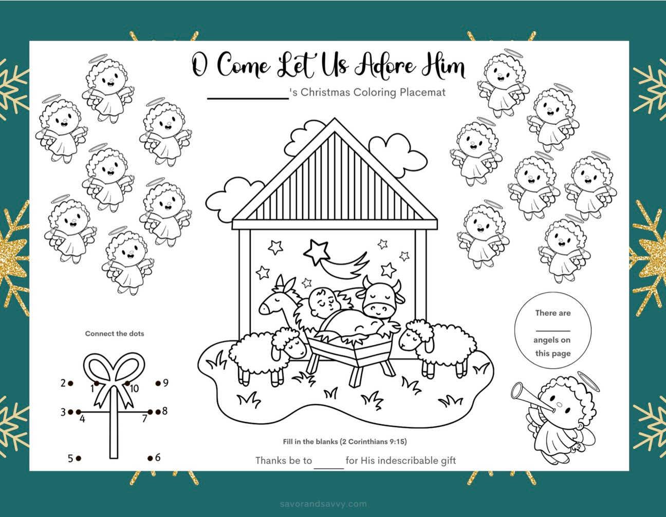 Free Printable Christmas Story Activity Sheets