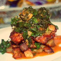 Instant Classic ~ Braised Chicken and Kale with White Wine