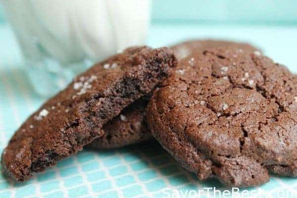 salted chocolate fudge cookies