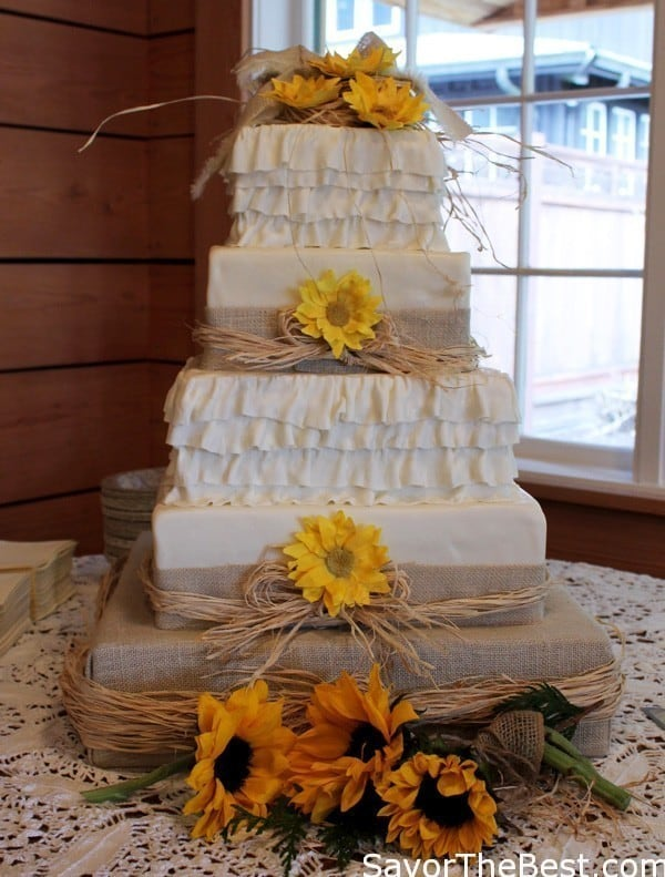 Country Themed Wedding Cake Design - Savor the Best