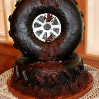 Muddy Tire Cake (Groom's Cake)