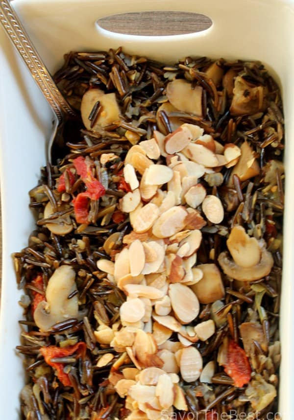 Wild Rice Pilaf with Mushrooms