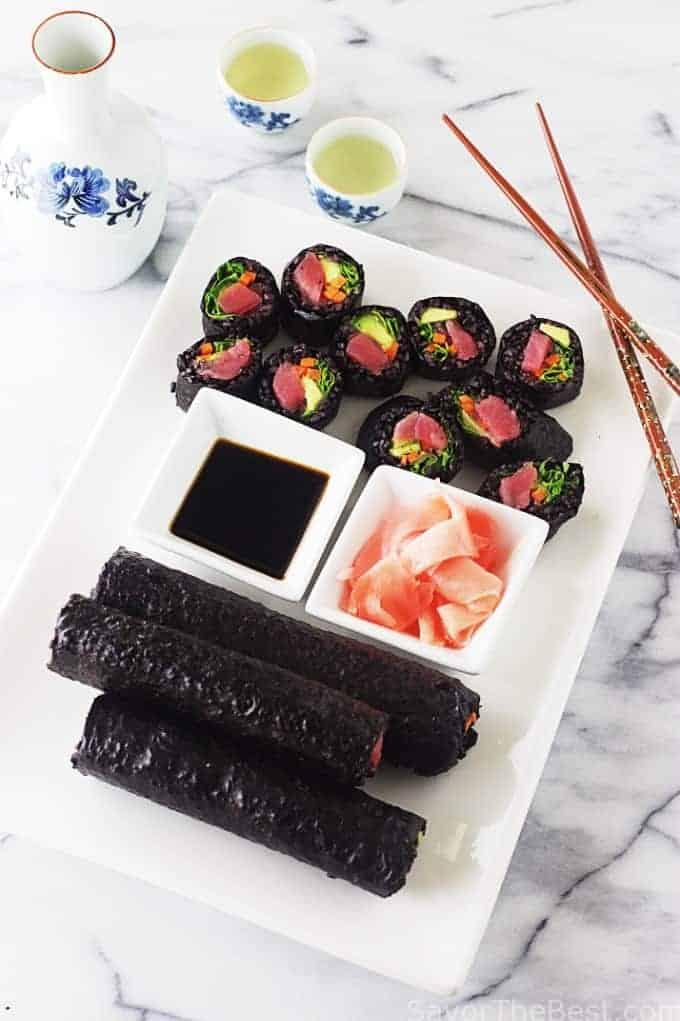 Black Rice Sushi Rolls