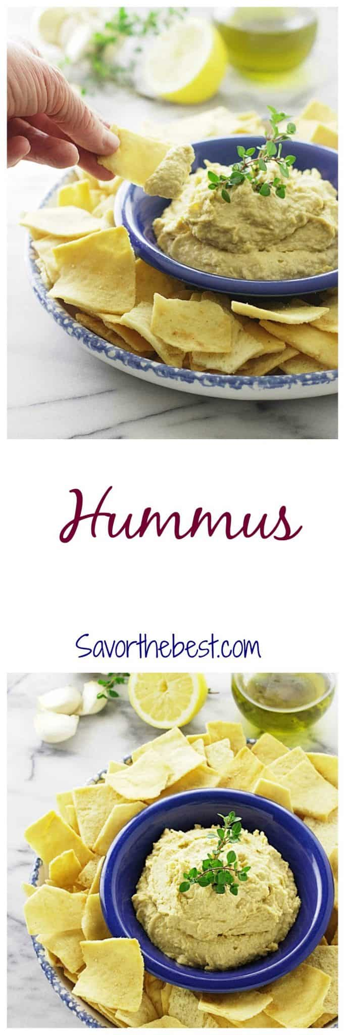 A creamy, traditional style hummus dip made with garbanzo beans. Serve with raw vegetables or pita bread.
