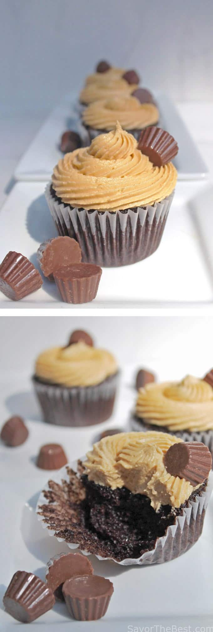 Reese's peanut butter and chocolate cupcakes