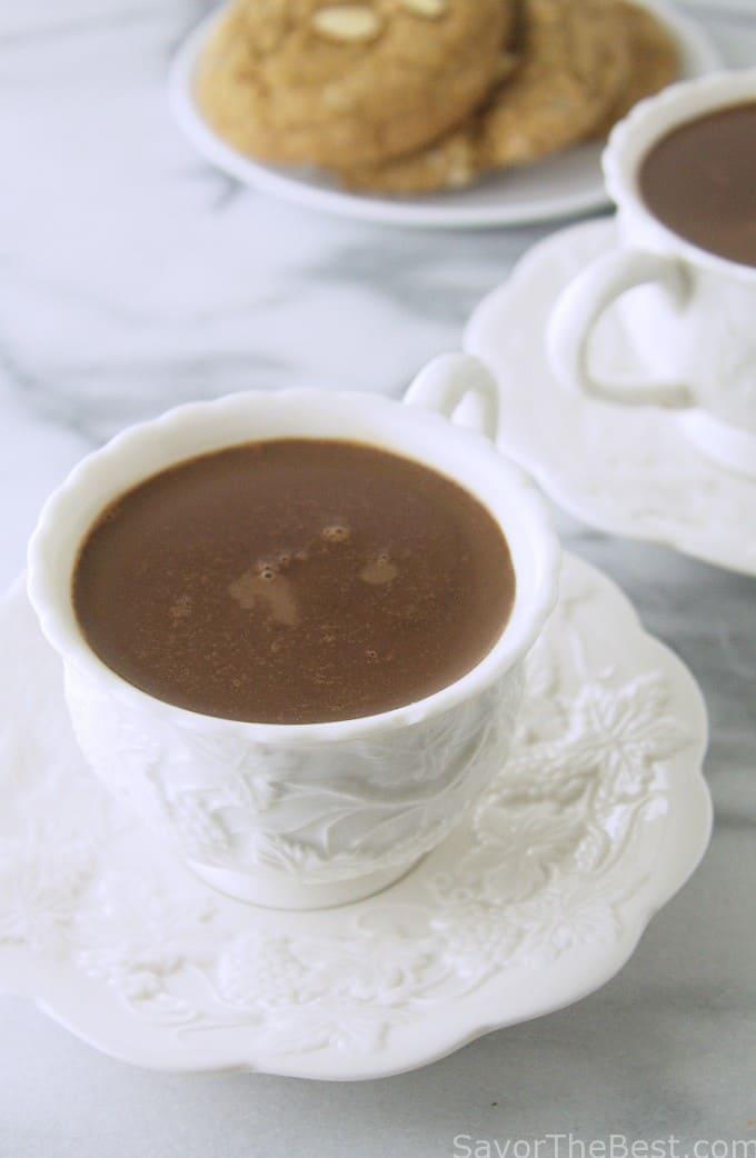 decadent Belgian hot chocolate