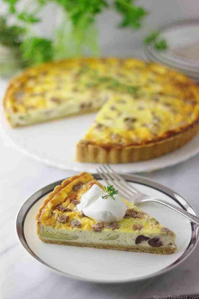 Artichoke and Olive Tart with Kamut Crust
