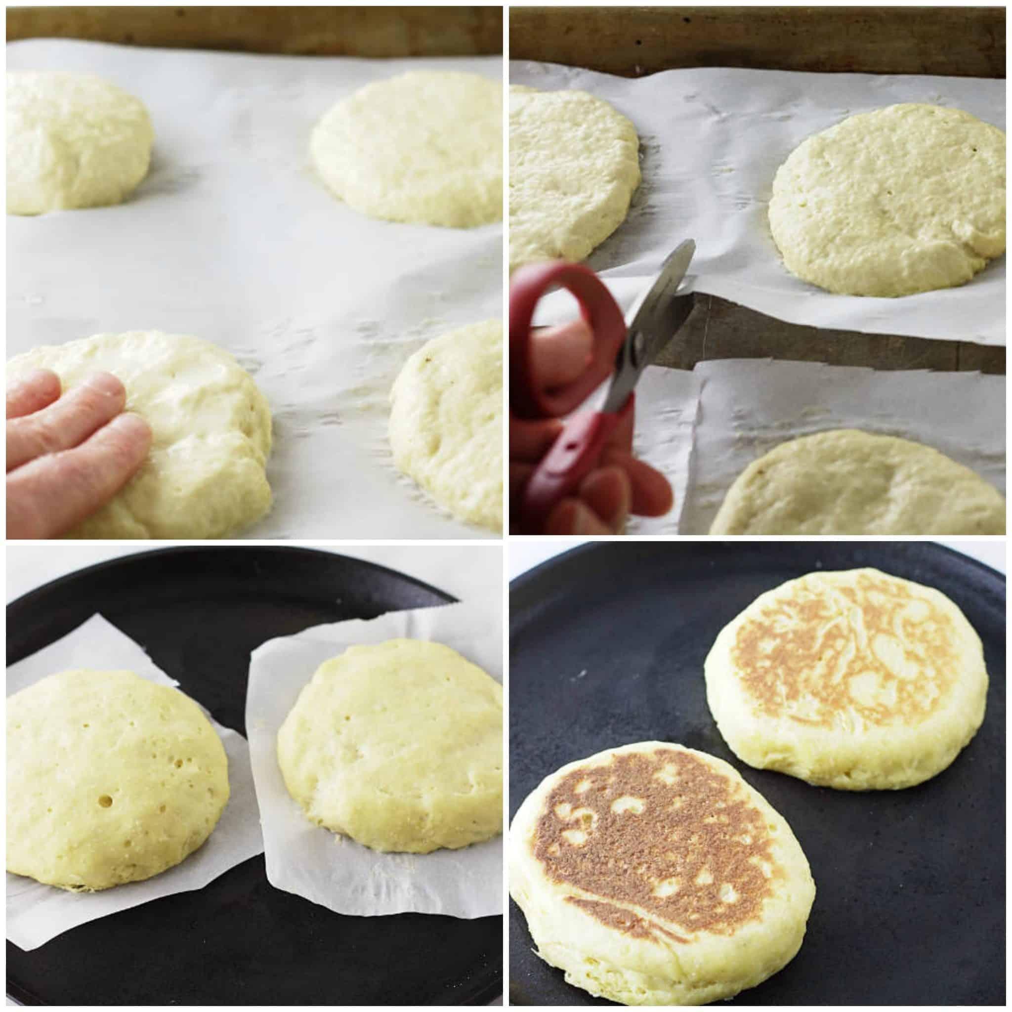 einkorn english muffins process