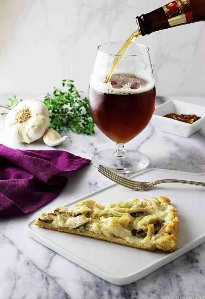 Chicken-Mushroom Pizza with Einkorn Crust