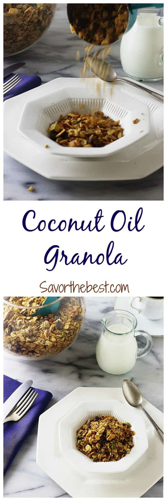 coconut oil granola